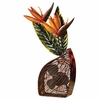 Bird of Paradise Mottled Brass Fan