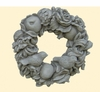 Stone Floral Wreath with Birds