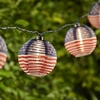 Ten American Flag Lantern Party String Lights