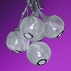 Silver Metal Mini Globes String Party Lights