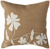 "Dori 18"" Square Burlap Throw Pillow"