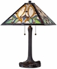 Victorian Art Glass Table Lamp