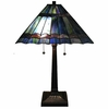 Blue Mission Tiffany Style Table Lamp