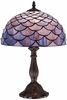 Blue Shell Tiffany Style Table Lamp