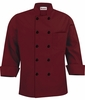 Men's Burgundy Tailored Fit Chef Jacket