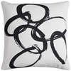 "Abstract Ivory 20"" Throw Pillow"