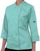 Women's 3/4 Sleeve Colors Chef Coat