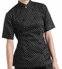 Black/White Polka Dot Chef Coat