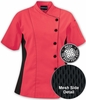 Women's Short Sleeve Mesh Chef Coat