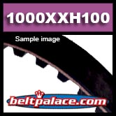 "1000XXH100 TIMING BELT. 1-1/4"" Pitch (1 x 100in PL),"