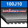100J10 Poly-V Belt, Metric 10-PJ254 Motor Belt.