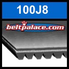 100J8 Poly-V Belt, Metric 8-PJ254 Motor Belt.