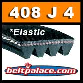 EL-408J4 Elastic Poly-V Belt. Self-tensioning Metric 4-PJ1036 Belt.