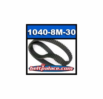 Rubber D/&D PowerDrive 1040-8M-20 Timing Belt 1 Number of Band