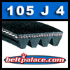 105J4 Poly-V Belt, Metric 4-PJ267 Drive Belt.