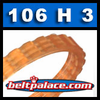 106H 3 Rib Poly-V Belt, Metric 3-PH269 Motor Belt.