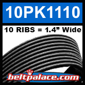 10PK1110 Automotive Serpentine (Micro-V) Belt: 1110mm x 10 RIBS. 1110mm Effective Length.