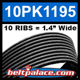 10PK1195 Automotive Serpentine (Micro-V) Belt: 1195mm x 10 RIBS. 1195mm Effective Length.