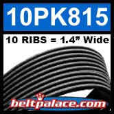 10PK815 Automotive Serpentine (Micro-V) Belt: 815mm x 10 RIBS. 815mm Effective Length.