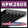6PK2805 Automotive Serpentine (6K1105) Belt.