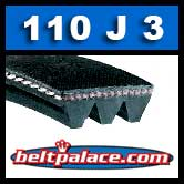 110J3 Poly-V Belt, Metric 3-PJ279 Motor Belt.