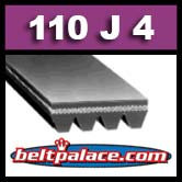 110J4 Poly-V Belt (Standard Duty), Metric 4-PJ279 Motor Belt.