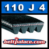 110J4 Poly-V Belt, Metric 4-PJ279 Drive Belt.