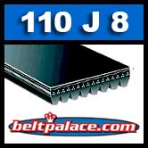 110J8 Poly-V Belt, Metric 8-PJ279 Drive Belt.