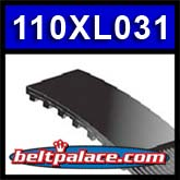 "110XL031 TIMING BELT. 110XL-031 BANDO USA Gear belt with 55 Teeth, 11"" Length OC, 5/16"" Wide."