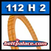 112H2 Poly-V Belt (Polyurethane). Metric 2-PH285 Motor Belt.