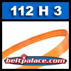 112H3 Poly-V Belt (Polyurethane). Metric 3-PH285 Motor Belt.