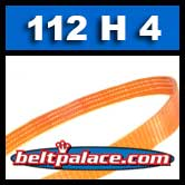 112H6 Poly-V Belt (Polyurethane). Metric 6-PH285 Motor Belt.