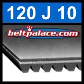120J10 Poly-V Belt, Metric 10-PJ305 Motor Belt.