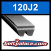 120J2 Poly-V Belt, Metric 2-PJ305 Motor Belt.