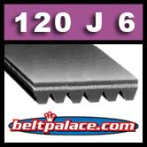 120J6 Poly-V Belt (Standard Duty). Metric 6-PJ305 Motor Belt.