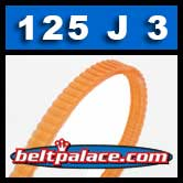 125J3 Poly-V Belt, Metric 3-PJ317 Motor Belt.