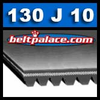 130J10 Poly-V Belt, Metric 10-PJ330 Motor Belt.