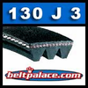 130J3 Poly-V Belt, Metric 3-PJ330 Motor Belt.