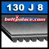 130J8 Poly-V Belt, Metric 8-PJ330 Motor Belt.