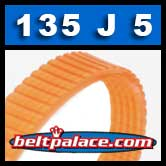 135J5 Poly-V Belt, Metric 5-PJ343 Motor Belt.