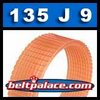 135J9 Poly-V Belt, Metric 9-PJ343 Motor Belt.