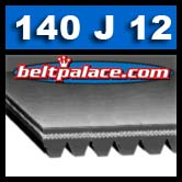 140J12 BANDO Poly-V belt. 12-PJ356 Metric Belt.