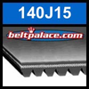140J15 Poly-V Belt, Metric 15-PJ356 Motor Belt.