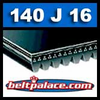 140J16 Poly-V Belt, Industrial Grade. Metric 16-PJ356 Drive Belt.