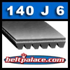 140J6 Belt. Poly-V Belts 6-PJ356, Delta Part Number 22-563.