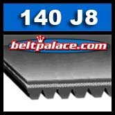 140J8 Poly-V Belt, Industrial Grade Metric 8-PJ356 Motor Belt.