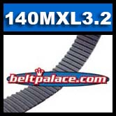 140MXL3.2G Metric Timing belt. Industrial Grade (SAE 112MXL012).