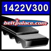 "1422V300 Multi-Speed Belts: 7/8"" Top Width. Replaces 750VA2222, Metric 22V760A22."