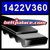 "1422V360 Multi-Speed Belts: 7/8"" Top Width. Replaces Variable Speed 925VA2222, Metric Belt 22V915A22."