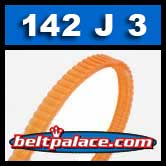 142J3 Poly-V Belt, Metric 3-PJ360 Motor Belt.
